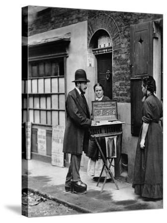 Street Doctor, 1876-77-John Thomson-Stretched Canvas Print
