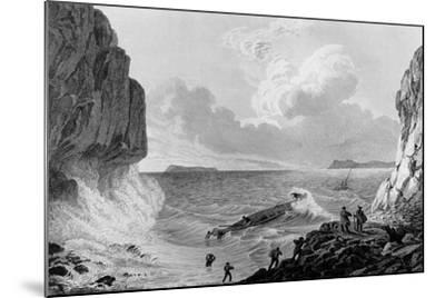 Franklin's expedition landing in a storm,1821-George Back-Mounted Giclee Print
