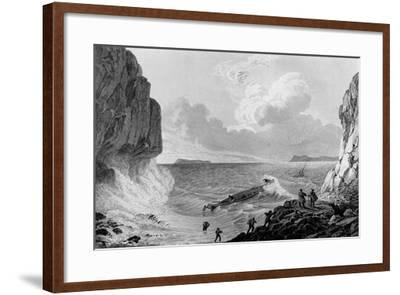 Franklin's expedition landing in a storm,1821-George Back-Framed Giclee Print
