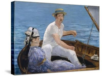 Boating, 1874-Edouard Manet-Stretched Canvas Print