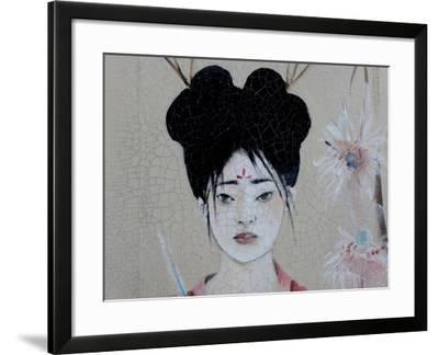 Chinese Women (Triptych) 2015 3 Detail-Susan Adams-Framed Giclee Print