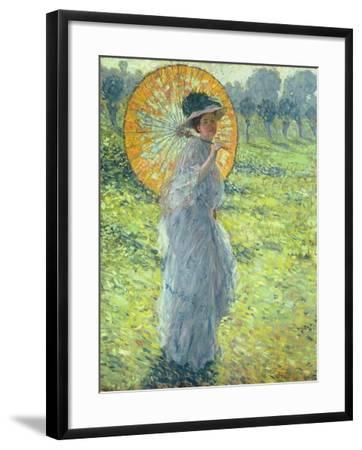Woman with a Parasol, c. 1906-Frederick Carl Frieseke-Framed Giclee Print
