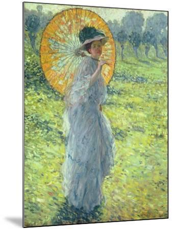 Woman with a Parasol, c. 1906-Frederick Carl Frieseke-Mounted Giclee Print