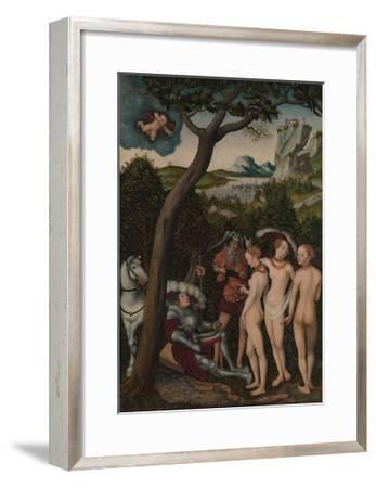 The Judgement of Paris, c.1528-Lucas Cranach the Elder-Framed Giclee Print