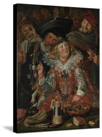 Shrovetide Revellers (The Merry Company) c.1615-Frans Hals-Stretched Canvas Print