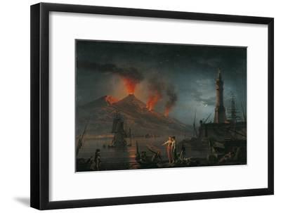 Eruption of Vesuvius by Charles Francois Lacroix De Marseille, 18th C.-Charles Francois Lacroix de Marseille-Framed Giclee Print