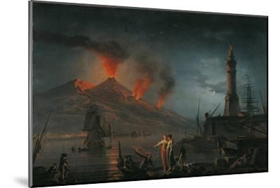 Eruption of Vesuvius by Charles Francois Lacroix De Marseille, 18th C.-Charles Francois Lacroix de Marseille-Mounted Giclee Print