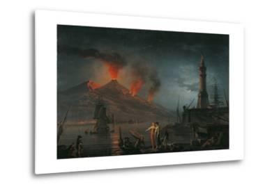 Eruption of Vesuvius by Charles Francois Lacroix De Marseille, 18th C.-Charles Francois Lacroix de Marseille-Metal Print
