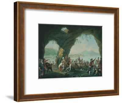 Everyday Life in a Cave in Posillipo, Near Naples Italy-Pietro Fabris-Framed Giclee Print
