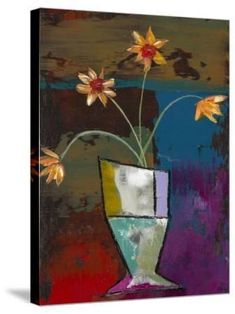 Abstract Expressionist Flowers II-Mehmet Altug-Stretched Canvas Print