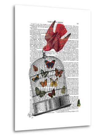 Flying Birdcage-Fab Funky-Metal Print
