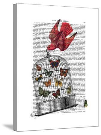 Flying Birdcage-Fab Funky-Stretched Canvas Print