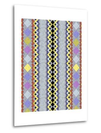 Vintage Stripe III-Katia Hoffman-Metal Print