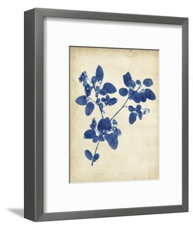 Indigo Leaf Study V-Vision Studio-Framed Art Print