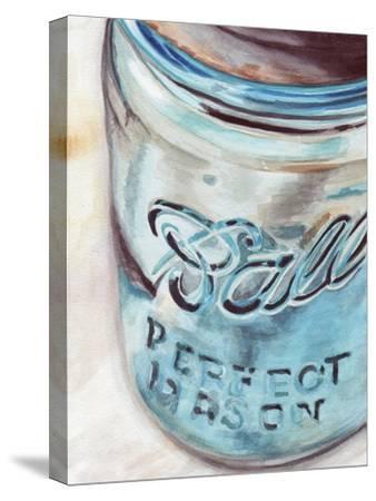 Mason Jar I-Redstreake-Stretched Canvas Print