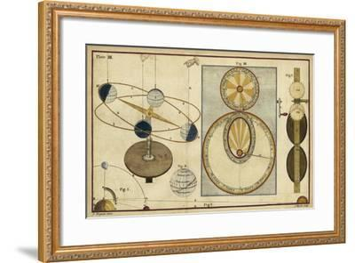 Distance of Sun, Moon and Planets-James Ferguson-Framed Art Print
