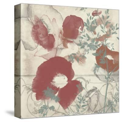 Floral Flutter I-Jennifer Goldberger-Stretched Canvas Print