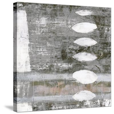 White Orbs I-Jennifer Goldberger-Stretched Canvas Print