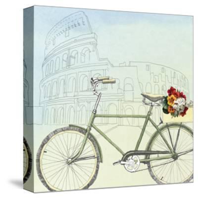 Biking Through Rome-Naomi McCavitt-Stretched Canvas Print