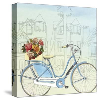 Biking Through San Francisco-Naomi McCavitt-Stretched Canvas Print