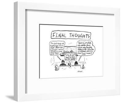 Cartoon-David Sipress-Framed Premium Giclee Print