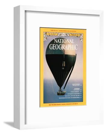 Cover of the February, 1977 National Geographic Magazine-Otis Imboden-Framed Photographic Print