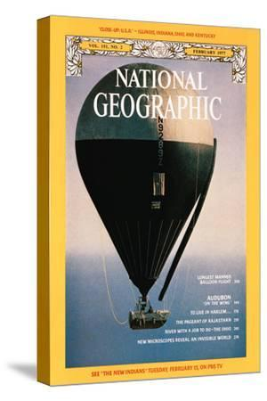 Cover of the February, 1977 National Geographic Magazine-Otis Imboden-Stretched Canvas Print
