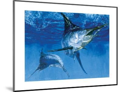 Blue Marlin In: Double Header, 1976-Stanley Meltzoff-Mounted Giclee Print