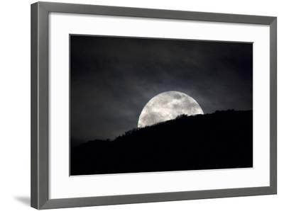 The Full Moon Rising over the Horizon-Robbie George-Framed Photographic Print