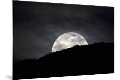 The Full Moon Rising over the Horizon-Robbie George-Mounted Photographic Print