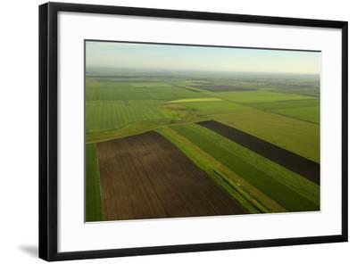 Communist-Era Collective Farm Fields in Romania-Kenneth Garrett-Framed Photographic Print