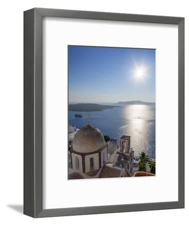 Sunshine on a Summer Day in the Mediterranean Islands of Santorini-Babak Tafreshi-Framed Photographic Print