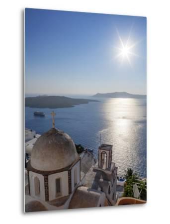 Sunshine on a Summer Day in the Mediterranean Islands of Santorini-Babak Tafreshi-Metal Print