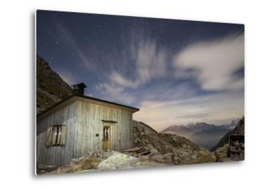 The Paolo E Nicola Hut and Forecella Valmaggiore Bathed in Starlight-Ulla Lohmann-Metal Print