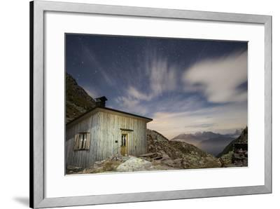 The Paolo E Nicola Hut and Forecella Valmaggiore Bathed in Starlight-Ulla Lohmann-Framed Photographic Print