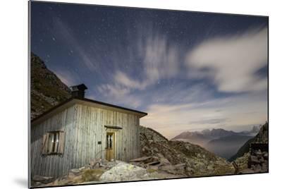 The Paolo E Nicola Hut and Forecella Valmaggiore Bathed in Starlight-Ulla Lohmann-Mounted Photographic Print