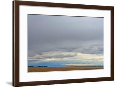 A Spring Storm Hovers over Harvested Wheat Fields in the Gallatin Valley, Near Bozeman, Montana-Gordon Wiltsie-Framed Photographic Print