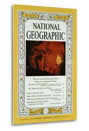 Cover of the February, 1960 National Geographic Magazine-Black Star-Metal Print