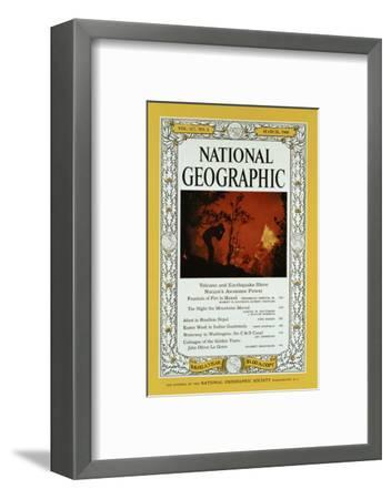 Cover of the February, 1960 National Geographic Magazine-Black Star-Framed Photographic Print