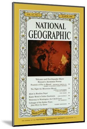 Cover of the February, 1960 National Geographic Magazine-Black Star-Mounted Photographic Print