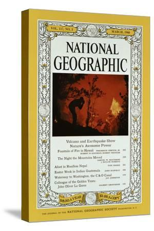Cover of the February, 1960 National Geographic Magazine-Black Star-Stretched Canvas Print