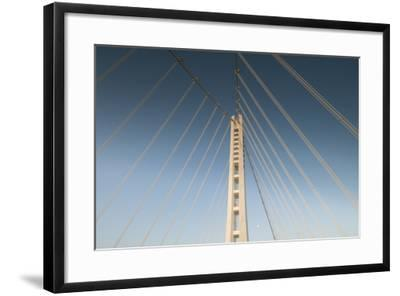 The Suspension Bridge Replacement of the Bay Bridge Eastern Span of the San Francisco Bay Bridge-Jeff Mauritzen-Framed Photographic Print