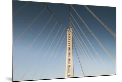 The Suspension Bridge Replacement of the Bay Bridge Eastern Span of the San Francisco Bay Bridge-Jeff Mauritzen-Mounted Photographic Print