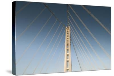 The Suspension Bridge Replacement of the Bay Bridge Eastern Span of the San Francisco Bay Bridge-Jeff Mauritzen-Stretched Canvas Print