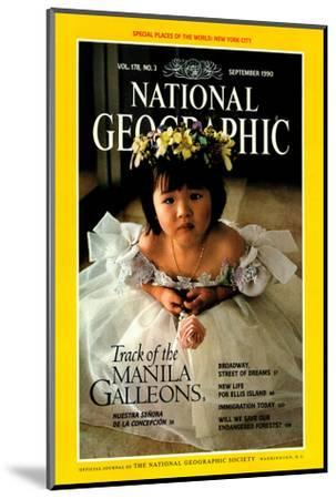 Cover of the September, 1990 National Geographic Magazine-Sisse Brimberg-Mounted Photographic Print