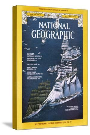 Cover of the December, 1976 National Geographic Magazine-Gilbert M^ Grosvenor-Stretched Canvas Print