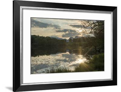 Sunset at Loughrigg Tarn Near Ambleside in the Lake District-Alex Treadway-Framed Photographic Print