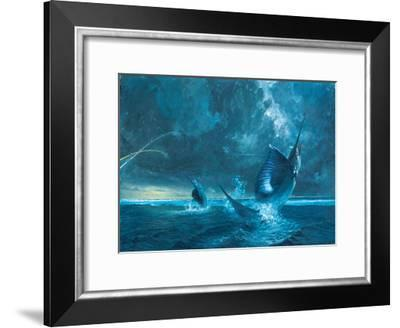 Double Header Against the Reef, 2003-Stanley Meltzoff-Framed Giclee Print