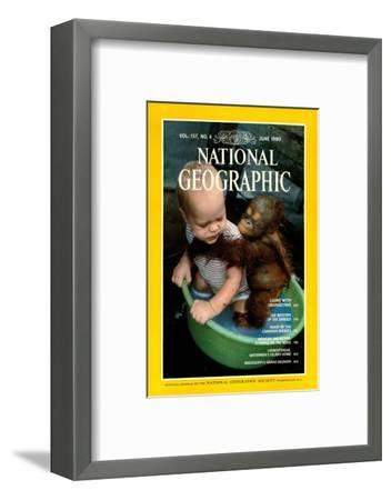 Cover of the June, 1980 National Geographic Magazine-Rodney Brindamour-Framed Photographic Print