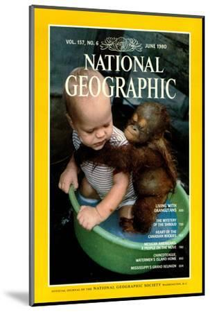 Cover of the June, 1980 National Geographic Magazine-Rodney Brindamour-Mounted Photographic Print